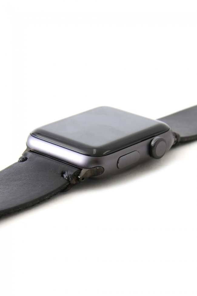 Apple Watch Band - Pueblo Leather Habanero - Silver Type 1