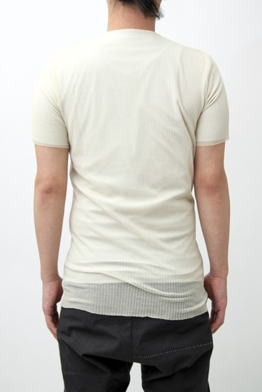 Short Sleeve Right Rib Jersey Face Sewn ec