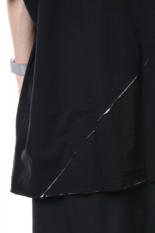 Crack print reversible T-shirt - NV-T56-073