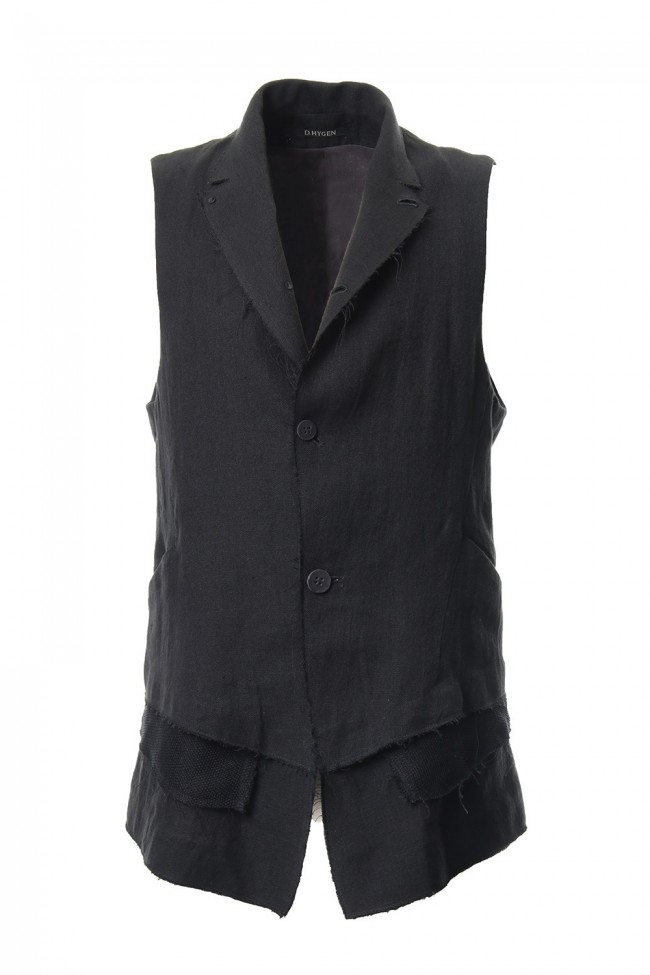 Linen tailored Vest - ST104-0059S