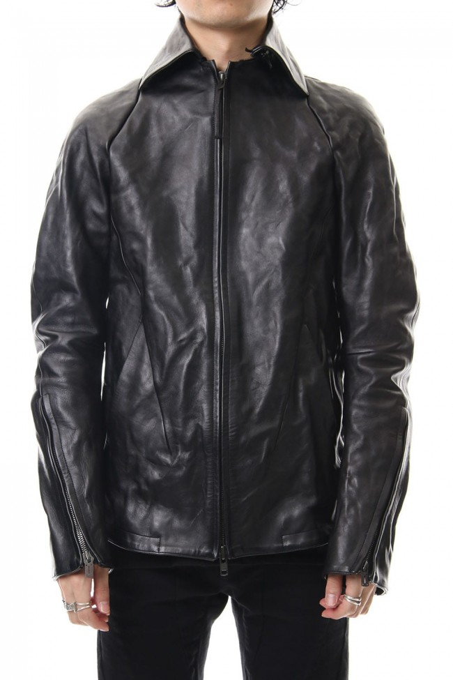 Detachable collar Horse leather jacket - ST105-0019A