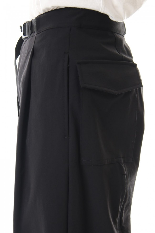 Water-repellent Stretch Wide Cropped pants
