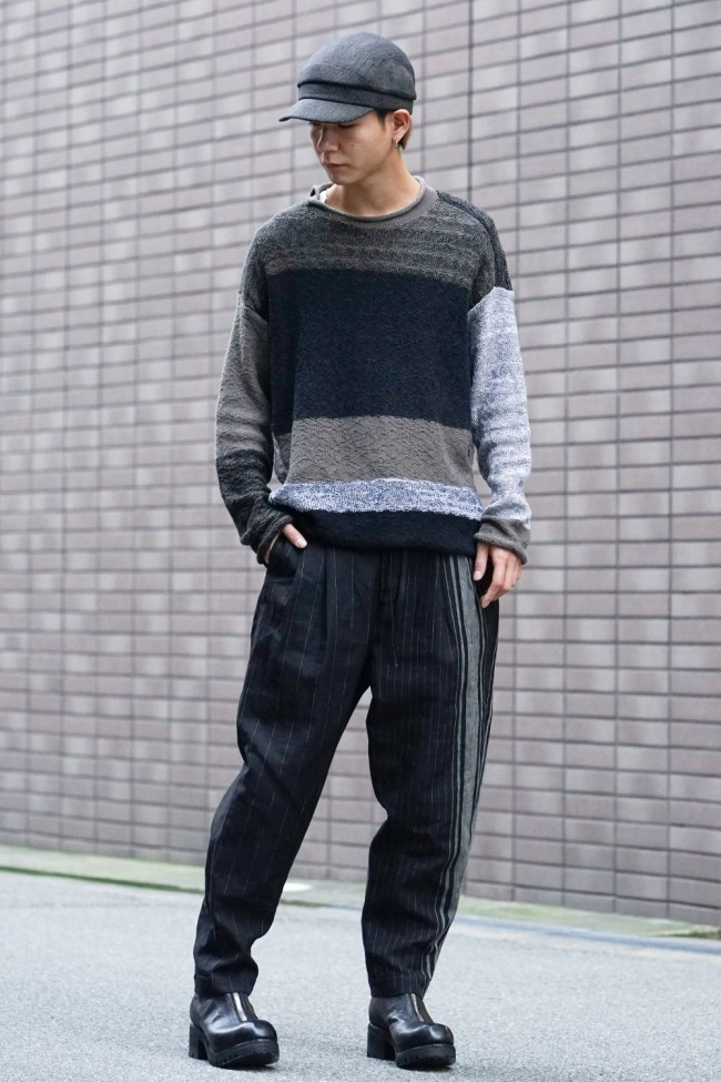 Random stripe Full length pants