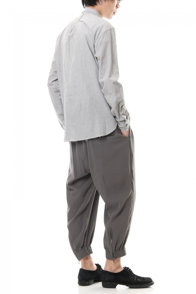 Hard twist Double weave Cuff pants Gray
