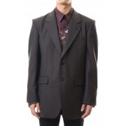 WOOL BACK BUTTONED JACKET-Brown-44