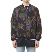 Forbidden fruit zipped blouson-Black-1