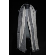 16AW DOUBLE FACE BIG BLANKET 90cm×200cm-Mix gray-FREE