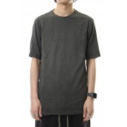 Short sleeve Japanese paper jersey Products dyed - Charcoal-Charcoal-1