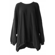 Sweater Big Pullover - AL-1397-Black-2