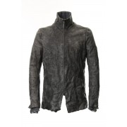 Destroy dyed Horse leather jacket - ST105-0049A-Dusty Gray-1