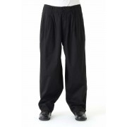 Product Dyed 3 Tuck Pants-Black-2