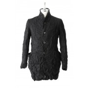 Silk / Cashmere Milled Finished Coat-Black-0