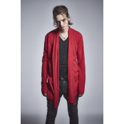 Shawl Cardigan Red-Red-S