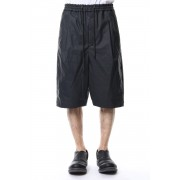 Pants Linen Coated Polyurethane-Black-1