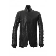 Limited Japan calf leather jacket - ST105-0029A-Black-1