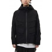 Dolman sleeve mountain parka-Black-1