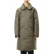Water-repellent Cotton Down Coat-Olive Drab-1