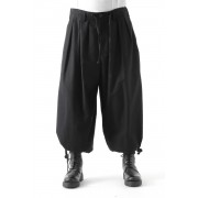 Balloon Pants Cotton-Black-2
