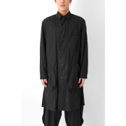 W-Spread Charcoal Dyed Coat-Black-1