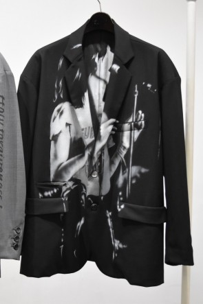 DIET BUTCHER SLIM SKIN17SS17SS Airbrushed over size tailored jacket