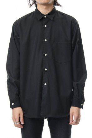 FACTOTUM 18-19AW TR STRETCH WIDE SHIRT-black