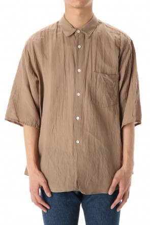 FACTOTUM 20SS Washi/C Gauze wide S/S Shirts - Beige