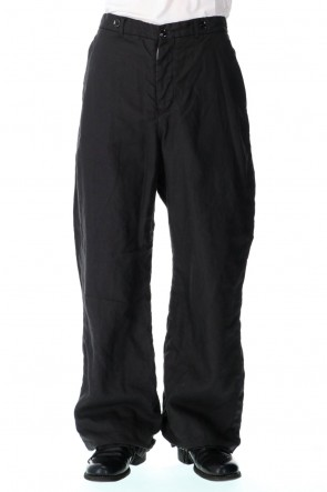 GARMENT REPRODUCTION OF WORKERS 21SS farmers trousers wide silhouette-noir