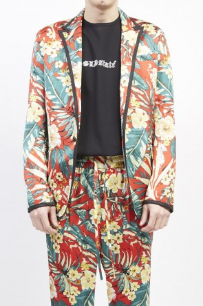 GalaabenD 19S PE Dessin tropical print 1B jacket Red
