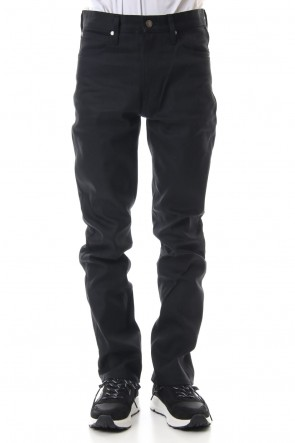 FACTOTUM 19SS Rigid denim straight - Black
