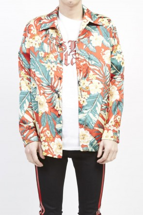 GalaabenD 19S PE Dessin tropical print shirt Red