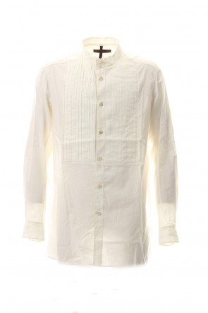 ZIGGY CHEN 17-18AW No collar Pleats Shirt