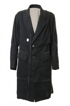 ZIGGY CHEN19SSFray processing Notched collar Coat 0M191 1103