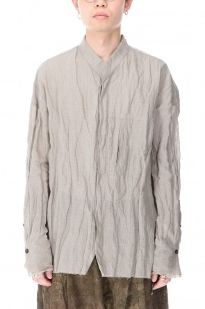 ZIGGY CHEN 20-21AW Cotton Metal Collarless SHIRT