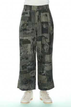 ZIGGY CHEN 21SS Pleated Wide Cropped trousers