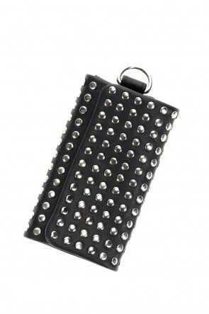 PATRICK STEPHAN Classic Leather key case 'all-studs' Silver
