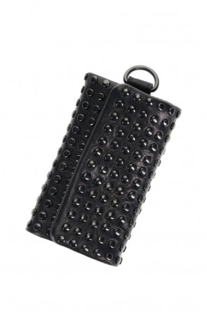 PATRICK STEPHAN Classic Leather key case 'all-studs' DAL