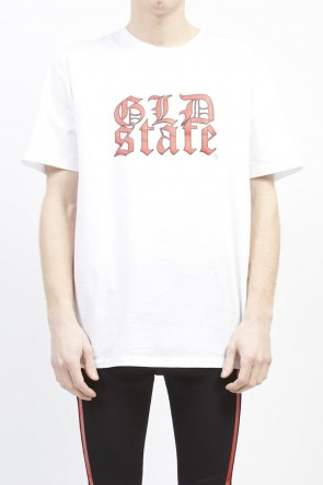 GalaabenD 19S GLD state print T-shirt (regular) White
