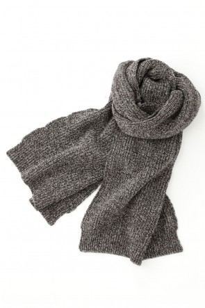 O PROJECT 20-21AW KNITTED SCARF - Dark Mere