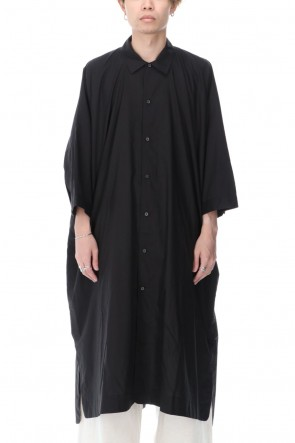 O PROJECT 21SS Gather Long shirt Black