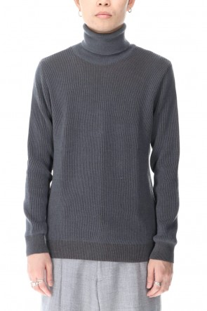 "STEPHAN SCHNEIDER 20-21AW Turtle Neck Knit Top ""Title"""
