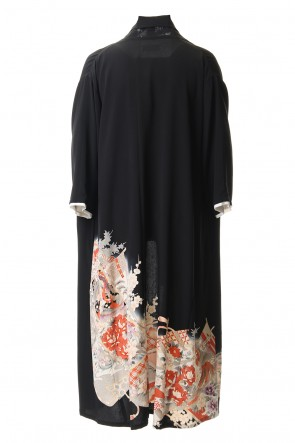RONDO.ym 20SS Silk Georgette Embroidery Shawl coat