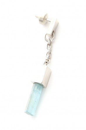 Parts of Four 18-19AW Talisman Cuboid Dangle Earring (Aquamarine, Medium Crystal, MA+AQU)