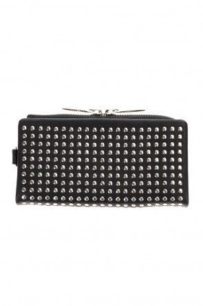 PATRICK STEPHAN Classic Leather long wallet 'all-studs' 2 Silver