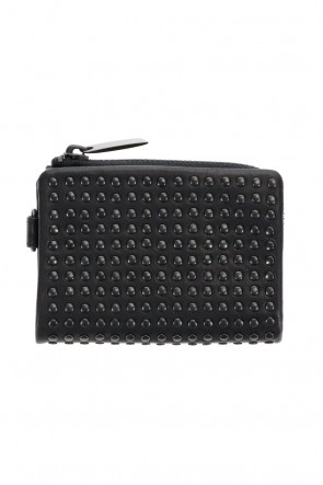 PATRICK STEPHAN Classic Leather micro wallet 'all-studs' 2 DAL