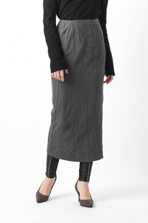 divka 16-17AW Wool Linen Cotton Washed Cloth Skirt 06-S05