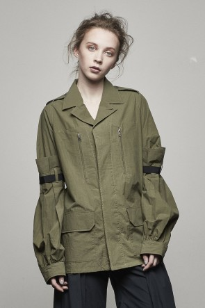 SATOKO OZAWA 17SS BISHOP SLEEVE FIELD JACKET - 17S-J-01