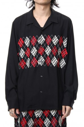 amok 18-19AW FAKE ARGYLE SHIRTS - 18021022 - BLACK