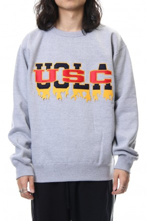 amok 18-19AW FAKE COLLEGE SWEAT - 18021033 - GRAY
