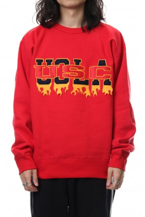amok 18-19AW FAKE COLLEGE SWEAT - 18021033 - RED