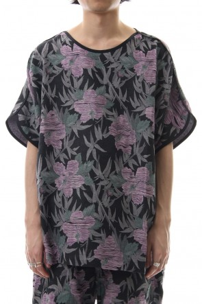 amok 19SS TROPICAL JACQUARD TEE - 19011013 - Black